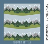 mountains pattern design.vector ... | Shutterstock .eps vector #1070137157