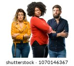 group of three young men and... | Shutterstock . vector #1070146367