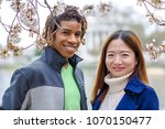 young couple springtime in... | Shutterstock . vector #1070150477