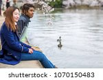 young couple springtime in... | Shutterstock . vector #1070150483