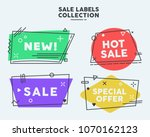 modern trendy geometric sale... | Shutterstock .eps vector #1070162123