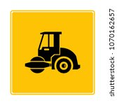 roll compactor icon in yellow... | Shutterstock .eps vector #1070162657