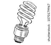 compact fluorescent light bulb... | Shutterstock .eps vector #1070179967