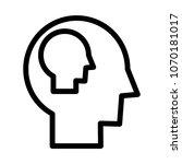 self   awareness icon   Shutterstock .eps vector #1070181017