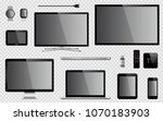 set of digital devices and... | Shutterstock . vector #1070183903