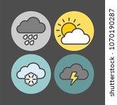 weather icons set. rain  sun ...   Shutterstock .eps vector #1070190287