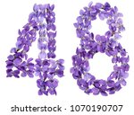 arabic numeral 48  forty eight  ... | Shutterstock . vector #1070190707