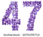 arabic numeral 47  forty seven  ... | Shutterstock . vector #1070190713