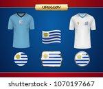 football uruguay jersey. vector ...   Shutterstock .eps vector #1070197667