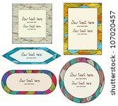 set of colorful frames on hand... | Shutterstock .eps vector #107020457