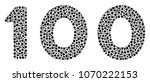 100 text collage of round dots... | Shutterstock .eps vector #1070222153