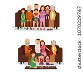 happy family toghether on the... | Shutterstock .eps vector #1070229767