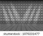 steel metal plate hole dot... | Shutterstock .eps vector #1070231477