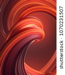 colored abstract twisted shape. ... | Shutterstock . vector #1070231507