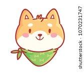 shiba inu  cute happy  adorable ... | Shutterstock .eps vector #1070231747
