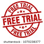 free trial round red grunge... | Shutterstock .eps vector #1070238377