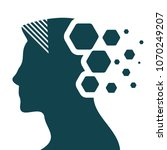 artificial intelligence head... | Shutterstock .eps vector #1070249207