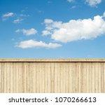 wooden fence sky clouds | Shutterstock . vector #1070266613