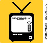 world television day | Shutterstock .eps vector #1070268677