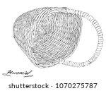 vintage black lined easter... | Shutterstock .eps vector #1070275787