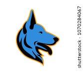 mascot icon illustration of... | Shutterstock .eps vector #1070284067