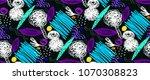 memphis seamless  pattern in...   Shutterstock .eps vector #1070308823