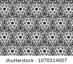ornament with elements of black ... | Shutterstock . vector #1070314007