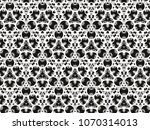 ornament with elements of black ... | Shutterstock . vector #1070314013