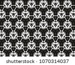 ornament with elements of black ... | Shutterstock . vector #1070314037