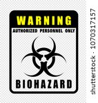 warning  biohazard  icon vector | Shutterstock .eps vector #1070317157