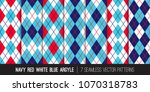 argyle seamless vector patterns ... | Shutterstock .eps vector #1070318783