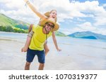 portrait of a couple of lovers...   Shutterstock . vector #1070319377