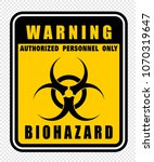 warning  biohazard  icon vector  | Shutterstock .eps vector #1070319647
