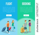 travelling people vertical... | Shutterstock .eps vector #1070325917
