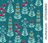 vector floral seamless pattern. ... | Shutterstock .eps vector #1070328083