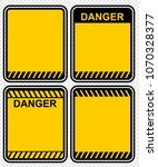 danger  sign  vector | Shutterstock .eps vector #1070328377