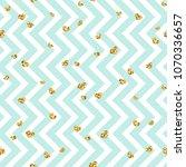 gold heart seamless pattern.... | Shutterstock .eps vector #1070336657