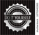 do it yourself silver shiny... | Shutterstock .eps vector #1070340383