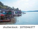 view of fishing village near... | Shutterstock . vector #1070346377
