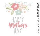 happy mother's day postcard.  | Shutterstock .eps vector #1070355143