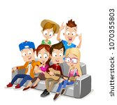 cartoon vector illustration of... | Shutterstock .eps vector #1070355803