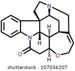 strychnine  a highly toxic... | Shutterstock . vector #107036207