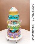 homemade children's cake... | Shutterstock . vector #1070362697