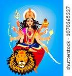 llustration of goddess durga | Shutterstock .eps vector #1070365337