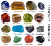 Collection Of Minerals On A...