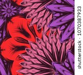 seamless floral background.... | Shutterstock .eps vector #1070387933