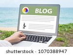 blog concept  people use... | Shutterstock . vector #1070388947