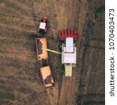aerial view of combine...