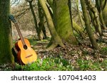 Acoustic Guitar Propped Agains...