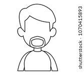 young man faceless cartoon on... | Shutterstock .eps vector #1070415893
